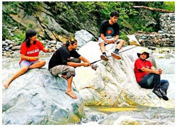 Angling In Tirthan Valley